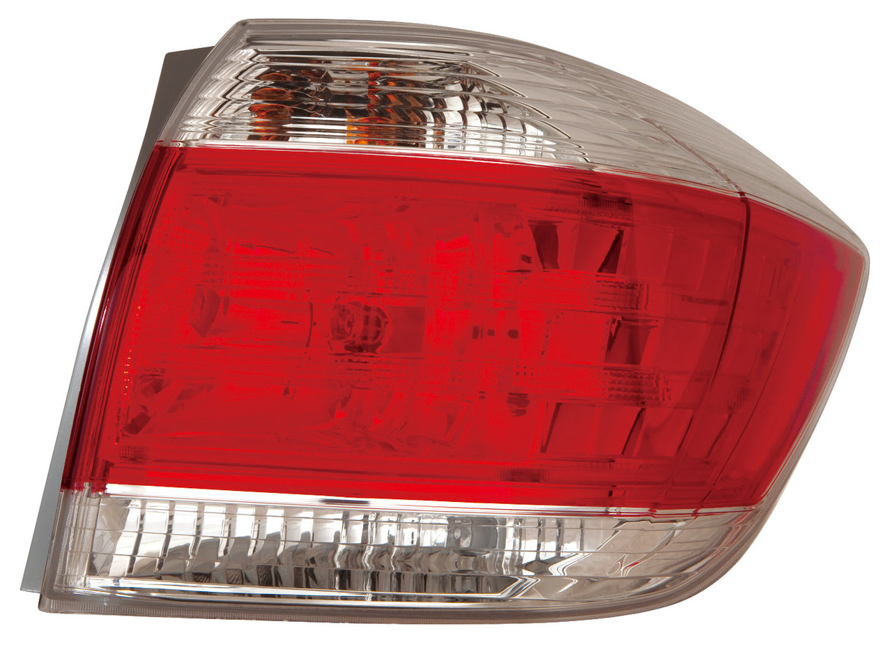 Toyota Highlander 2011 2012 2013 tail light right passenger