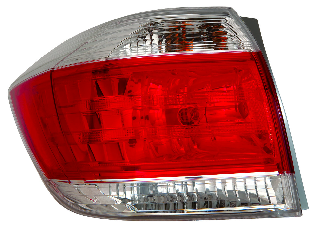 Toyota Highlander 2011 2012 2013 tail light left driver