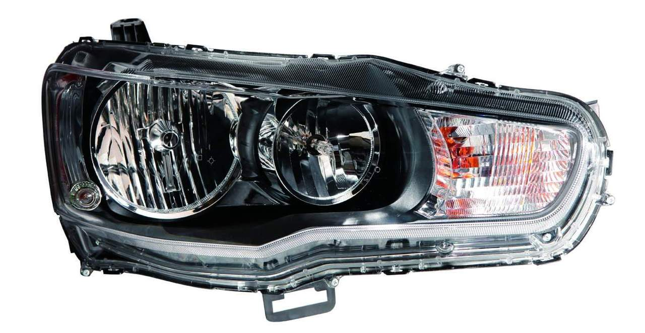 Mitsubishi Lancer 2009 2010 2011 2012 2013 right passenger headlight