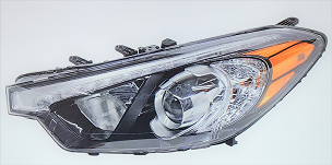 Kia Forte Koup / 2 dr Coupe 2014 2015 2016 left driver headlight with LED position light