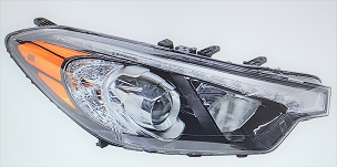 Kia Forte Koup / 2 dr Coupe 2014 2015 2016 right passenger headlight with LED position light