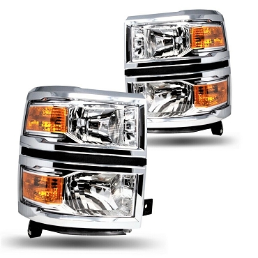 Chevrolet Silverado 1500 LT model 2014 2015 pair left and right headlights
