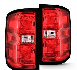 Chevrolet Silverado 1500 / 2500 / 3500 2014 2015 2016 2017 2018 tail light right and left pair