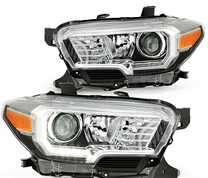 Toyota Tacoma TRD / Limited 2016 2017 2018 2019 right & left pair headlights with DRL